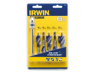 IRWIN 6X Blue Groove Stubby Wood Bit Set 5 Piece 16-25mm + Extension| Toolden