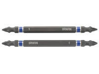 IRWIN Impact Double Ended Screwdriver Bits Pozi PZ1 100mm Pack of 2| Toolden