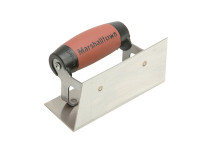 Marshalltown 65SSD Stainless Steel Internal Corner Trowel Square DuraSoft Handle from Toolden.