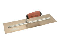 Marshalltown MPB165GSD Gold Stainless Steel Pre-Worn Plasterers Trowel DuraSoft 16in x 5in from Toolden.
