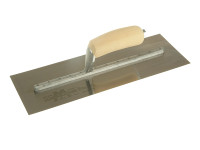 Marshalltown MXS73SS Cement Trowel Stainless Steel Wooden Handle 14in x 4.3/4in from Toolden.