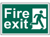 Scan Fire Exit Man Running Right - PVC 300 x 200mm