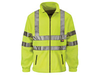 Scan Hi-Vis Yellow Full Zip Fleece - L