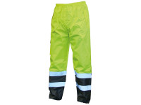 Scan Hi-Vis Motorway Trouser Yellow Black - M (34-36in)| Toolden