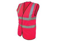 Scan Hi-Vis Waistcoat Pink - L (42-44in)