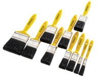 Stanley Tools Hobby Paint Brush Set of 10 12mm-76mm| Toolden