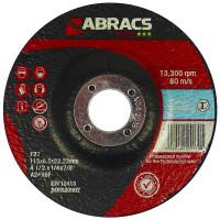 Abracs Proflex Depressed Centre Metal Grinding Discs 115mm X 6mm X 22mm (25 Pack)