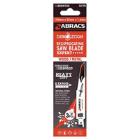 Abracs Recip Blade 150x22x1.6mm Demolition - 3 Pack
