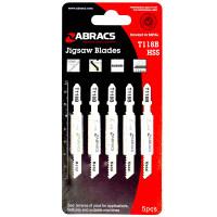 Abracs Jigsaw Blades for Metal T118A - 5 Pack