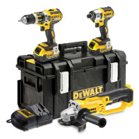 DeWalt DCK382M2-GB 18V 4.0Ah Li-lon XR Cordless Triple Pack from Toolden