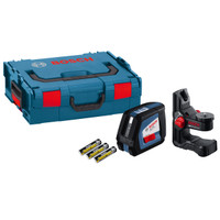 Bosch GLL 2-50 + BM1 - Cross Line Laser Level 20m Range + Wall Mount in L-Boxx from Toolden