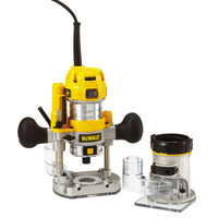DeWalt D26204K 1/4in Premium Plunge & Fixed Base Combi Router 900 Watt 110 Volt from Toolden