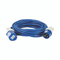 Defender 14M Extension Lead - 16A 1.5mm Cable - Blue 230V