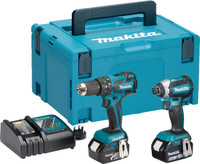 Makita DLX2173TJ 18V 2x5Ah LXT Li-ion Combi Drill Impact Driver Kit from Toolden