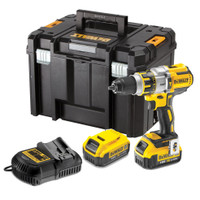 DeWalt DCD995P2 Brushless XRP Combi Hammer Drill with 2x 5Ah Batteries, Double Charger & T-Stack Case  | Toolden