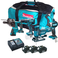 Makita 4 Piece Brushless Kit with 3 x 3Ah Batteries, Charger, Tool Bag from Toolden