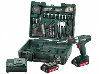 Metabo BS18Li 18v 2x2.0Ah Li-Ion Drill Driver Mobile Workshop Accessory Kit from Toolden