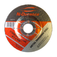 N-Durance Metal Grinding Discs (5 Pack) 115 x 6 x 22.2mm from Toolden.