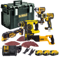 Dewalt 5 Piece Kit with 3 x 5.0Ah Batteries