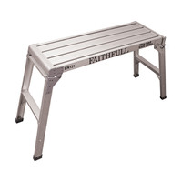 Faithfull Fold Away Step Up Aluminium L100 x H52 x W30cm from Toolden.