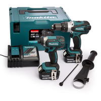 Makita DLX2145TJ Makita Cordless Twinpack 2 X 5Amp Charger & Case from Toolden