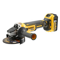 Dewalt DCG405P2 18V Cordless XR Brushless Angle Grinder 125mm with 2 x 5.0Ah Batteries