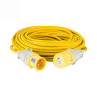 Defender 25M Extension Lead - 32A 2.5mm Cable - Yellow 110V from Toolden.