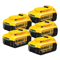 Dewalt DCB182 18v XR 4.0Ah Battery - 5 Pack | Toolden