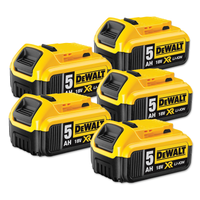 Dewalt DCB184 18v XR 5.0Ah Battery - 5 Pack