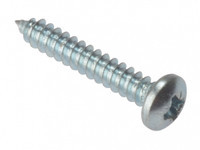 "Self Tapping 1"" x  8 Pan head zinc Plated Screws"