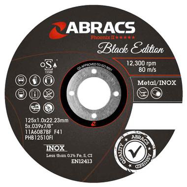 Abracs Black Edition Extra Thin Cutting Disc 125mm x 1.0mm x 22mm
