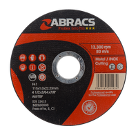 Abracs Proflex Extra Thin Discs 115mm x 1.6mm x 22mm