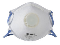 Scan Moulded Disposable Mask Valved FFP2 Protection (Pack of 3)