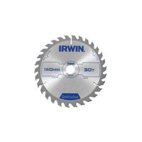 IRWIN Construction Circular Saw Blade 160 x 20mm x 30T ATB