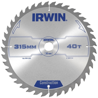 IRWIN General Purpose Table & Mitre Saw Blade 315 x 30mm x 40T ATB