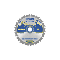 IRWIN Weldtec Cordless Circular Saw Blades 165 x 20mm x 18T ATB
