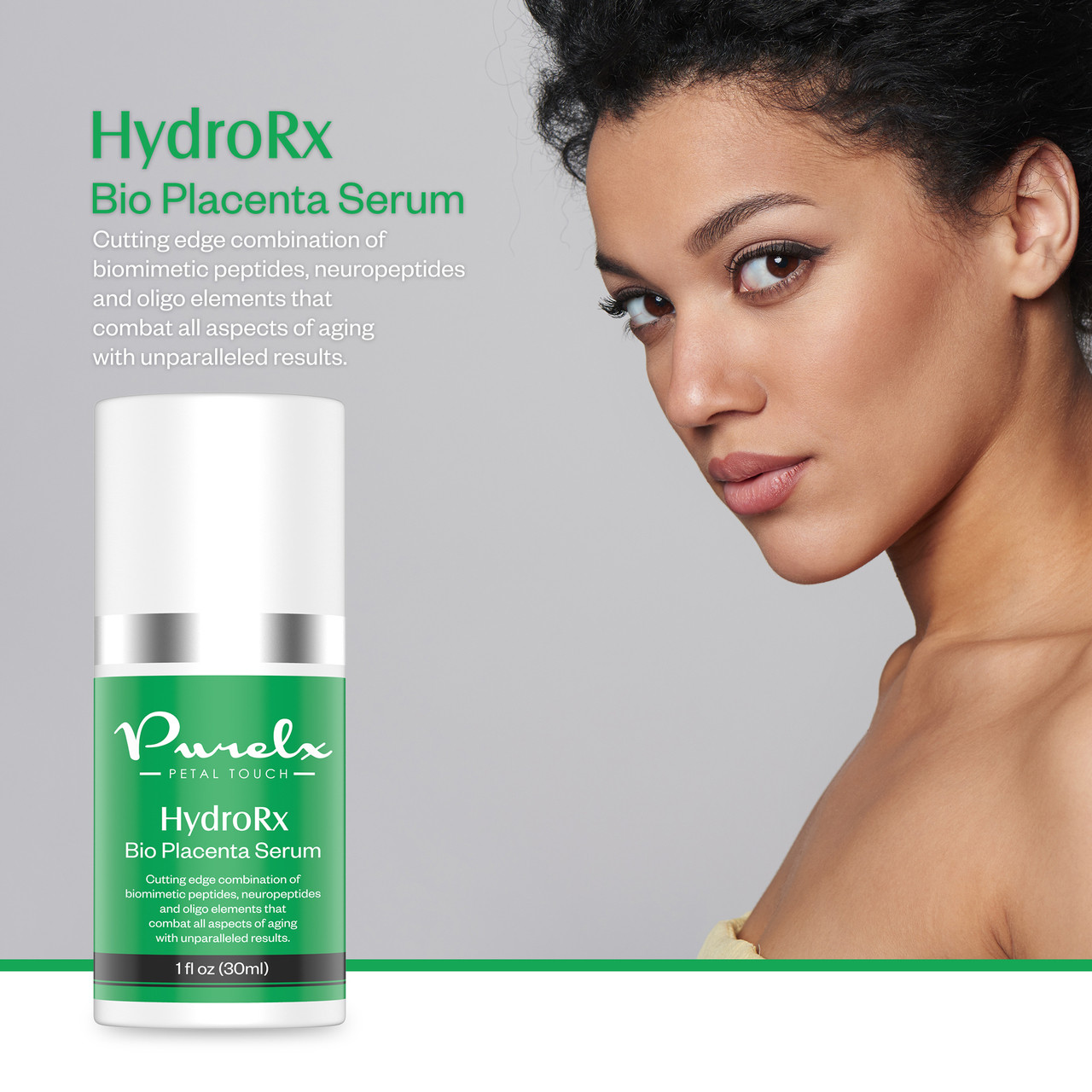 Using latest advancements in biochemistry, HydroRx Bio Placenta Serum firms, fortifies and increases skin's cell density.