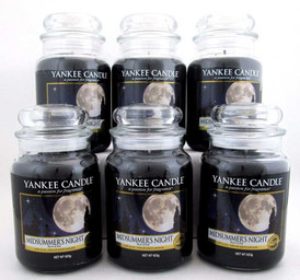 Yankee Candle Midsummer's Night 22 oz/623 g Large Glass Jars,Lot of 6