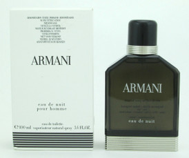 Armani Eau De Nuit by Giorgio Armani Eau De Toilette Spray Tester For Men 100 ml./ 3.4 oz.