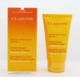 Clarins Sunscreen For Face Wrinkle Control Cream SPF50+ 75 ml NIB