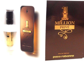 1 Million Prive Paco Rabanne EDP Spray Sample Vials PACK of 12 pcs.In Sealed Bag