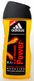 Adidas Extreme Power 2in1 Coffee Extract Hair&Body Sh/Gel 8.4 oz.NEW