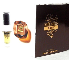 Lady Million Prive Paco Rabanne EDP Spray Sample Vials PACK of 12 pcs.Sealed Bag