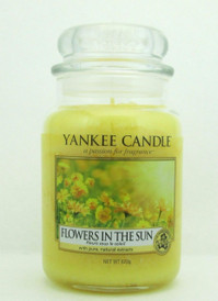 Yankee Candle Flowers In The Sun Large Glass Jar 22 oz./ 623 g.