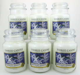 Yankee Candle Midnight Jasmine 22 oz/ 623 g Large Glass Jars Lot of 6
