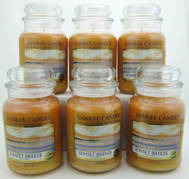 Yankee Candle Sunset Breeze 22 oz/ 623 g Large Glass Jars Lot of 6