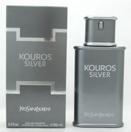 Kouros Silver by YSL Eau De Toilette Spray for Men NO Cellophane 3.3 oz./ 100 ml.