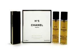 Chanel No. 5 by Chanel Twist and Spray Eau de Parfum Purse Spray 3 x 20 ml. Brand new. Sealed.