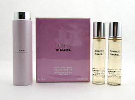 Chanel Chance Twist and Spray Eau de Toilette Purse Spray 3 x 20 ml. NIB Sealed.