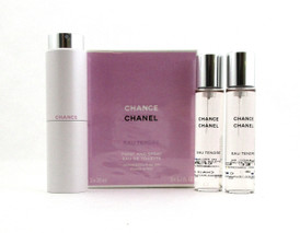Chanel Chance EAU TENDRE Twist and Spray EDT Purse Spray 3 x 20 ml. Women NIB
